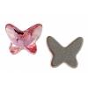 Swarovski Flatback 2854 Butterfly 8mm Light Rose